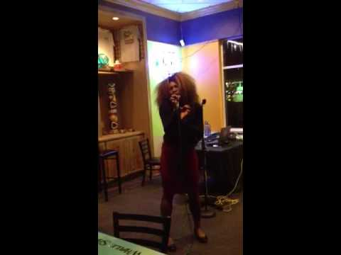 Serena Williams getting her Karaoke on at Sharky's Bar n Grille
