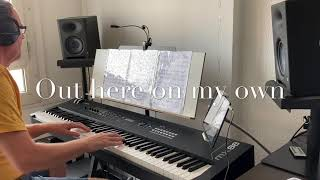 Out here on my own,piano cover with yamaha mx88