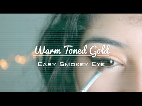 Warm Toned Gold Smokey Eye thumbnail