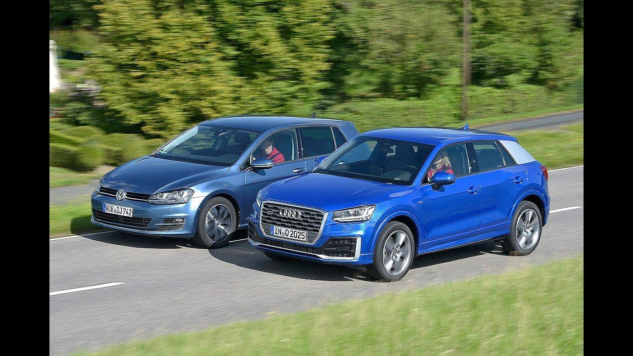 Audi Q2 vs Volkswagen Golf - YouTube