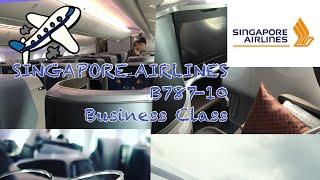 Singapore Airlines B787-10 Business Class flight path シンガポール航空 B787-10 フライトマップ(ビジネスクラス)