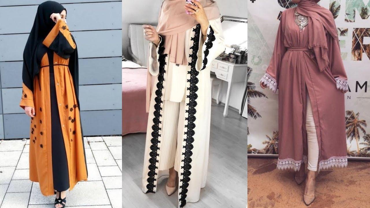 75a4e505a5265 جديد الملابس الطويلة للمحجبات 2019 - َAbaya Hijab Lookbook - YouTube