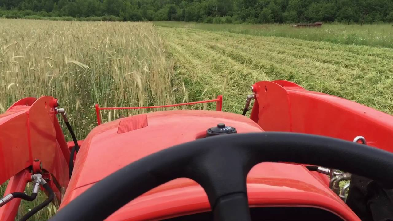 2015 Kubota L3301 Mowing Winter Rye