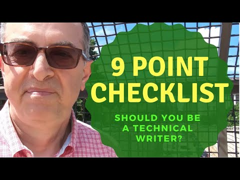 9 Point Checklist - Should You be a Technical Writer?