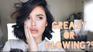 connectYoutube - HOW TO: Get Dewy, Glowing Skin WITHOUT looking like a GREASE BALL! | CassidySecrets