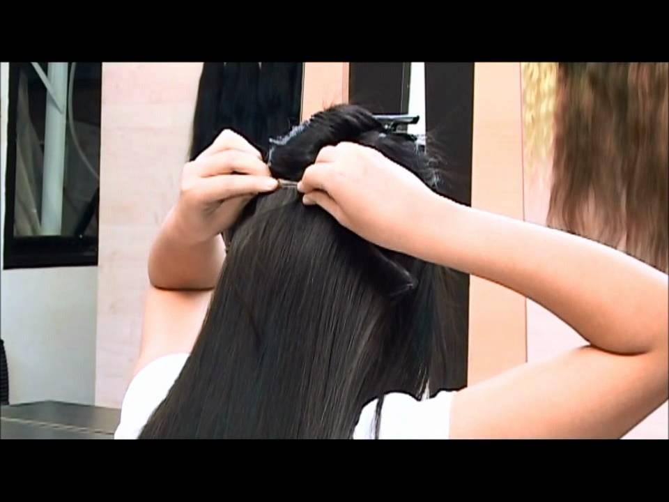 Como poner un postizo en pelo corto