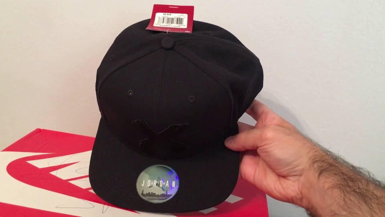 Jordan 1 Banned Snapback Hat - YouTube 24c95c82215