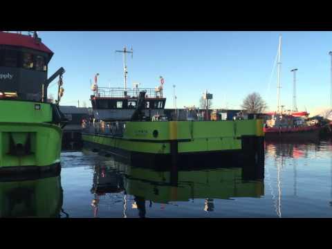 Bunker barge in Copenhagen port