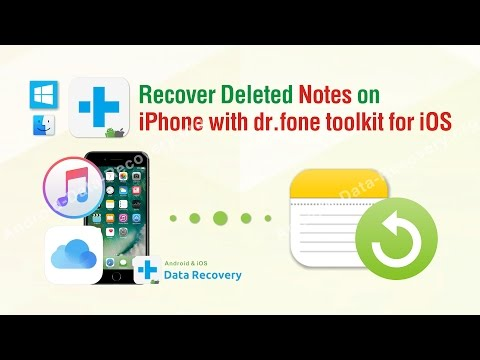 How To Recover Deleted Notes On Iphone With Dr Fone Toolkit For Ios