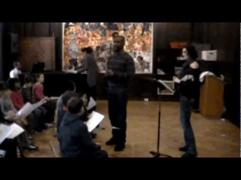 Tinatin @ Manhattan Country School rehearsing WE THE PEOPLES with MCS kids (Part 1)