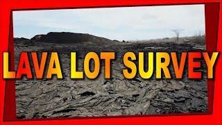 Aerial Drone Survey of Kilauea Volcano Lava Lot in Leilani Estates Hawaii (sUAS)