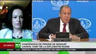 Armes nucléaires, Syrie, Japon : Karine Bechet-Golovko commente la conférence de presse de Lavrov