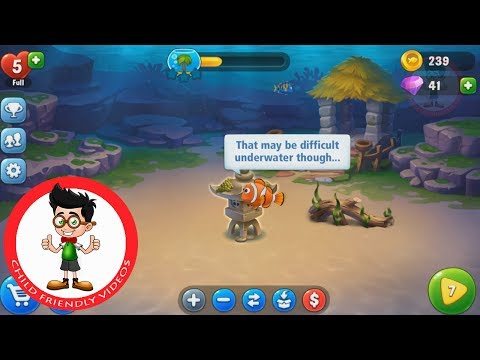 Play Fishdom. Kids Game On Android. Build Your Own Aquarium.