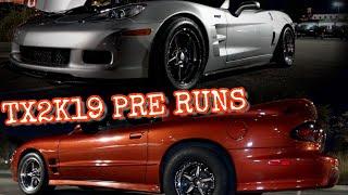 TX2K19 Pre Runs 1,XXXHP Coyote takes on TT Vette + Turbo 240sx