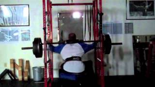 Stability assisted cage squats for patellar tendon rupture