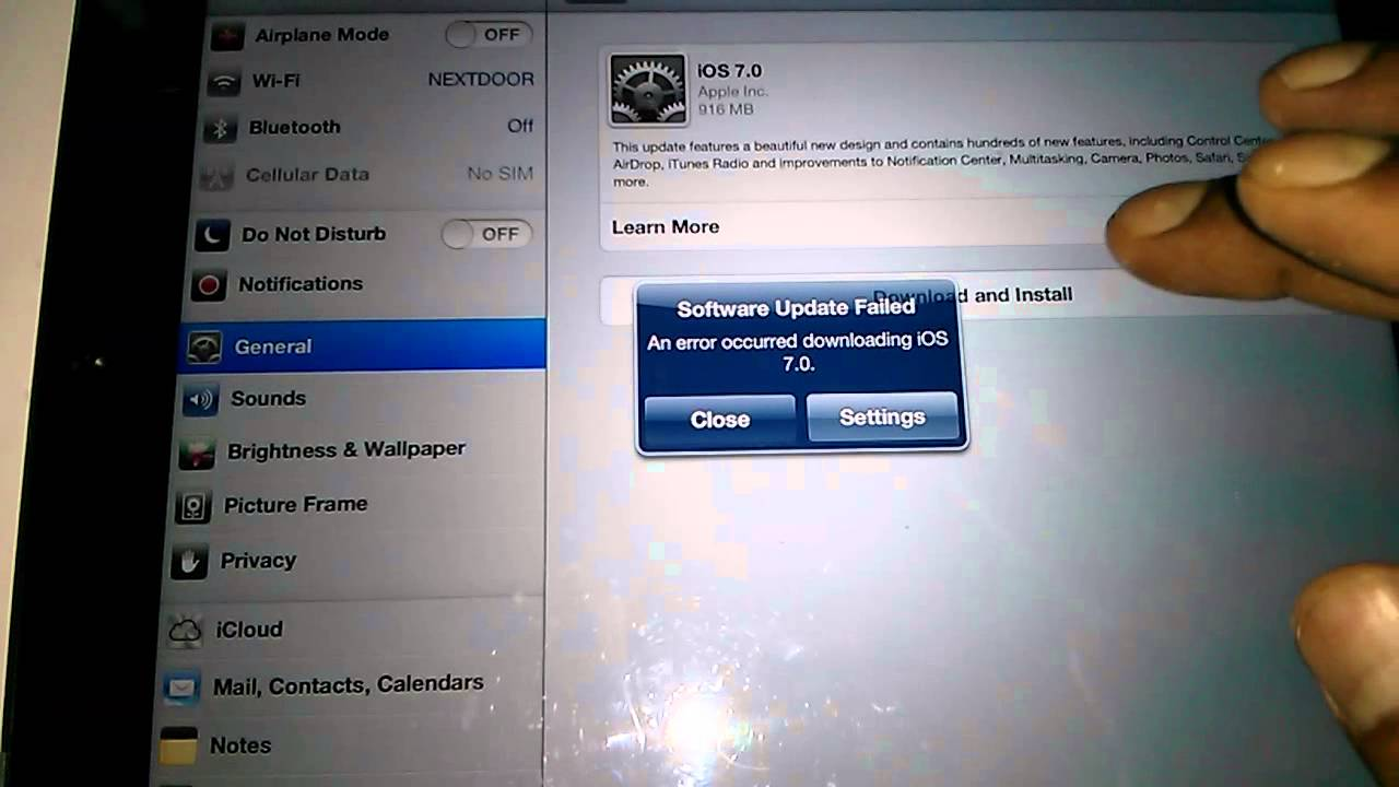 iphone software update failed ios 7 update fails on 3193
