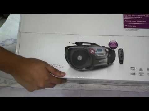 Philips AZ5740/98 DVD Soundmachine (Boom Box) Unboxing