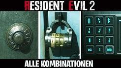 Resident Evil 2 Remake: ALLE TRESOR & SPIND KOMBINATIONEN ☆ SCHLOSSER Trophäe ☆  DEUTSCH
