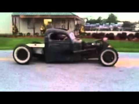 Old rat rod bobber truck - YouTube