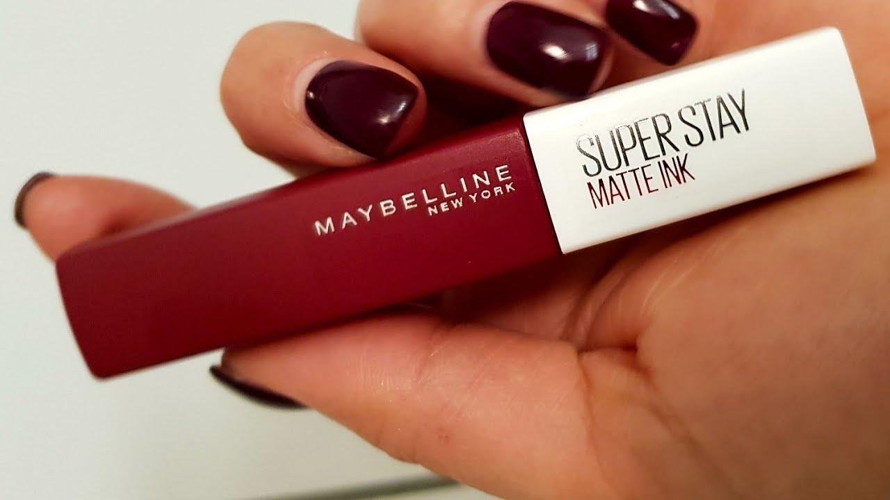 Maybelline Super Stay Matte Ink Likid Ruju Deniyorum Ilk Izlenim