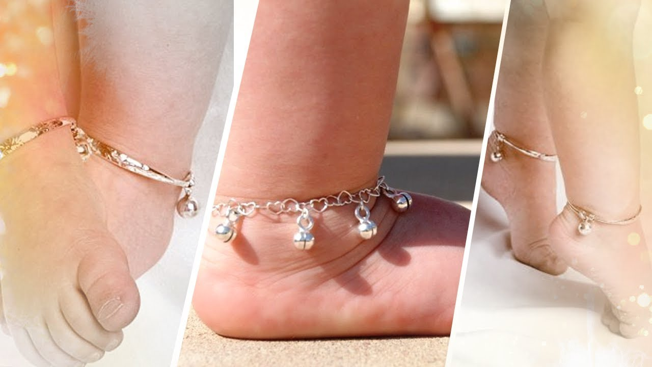Silver Anklets for Baby Girls Latest Designs - YouTube