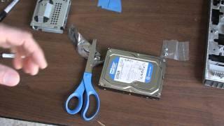 Replacing an HP Slimline Hard Drive