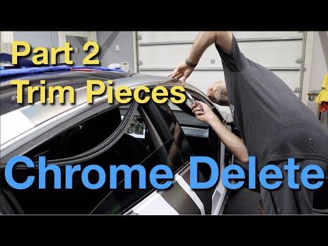 Model 3 Chrome Delete Part 2 - Trim