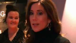 Crown Princess Mary at gala premiere of movie