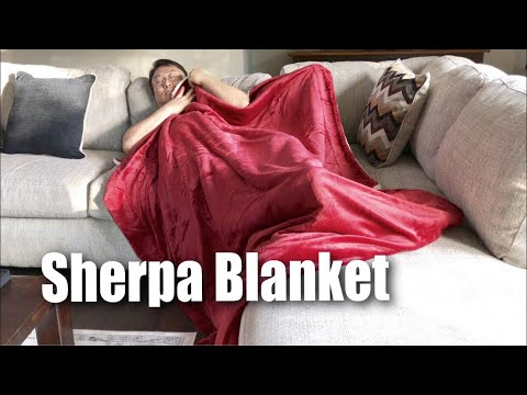 Sherpa Throw Blanket Red 60x80 Reversible Fuzzy Microfiber For Bed Or Couch By Bedsure Review