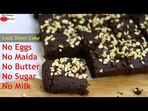 how-to-make-chocolate-cake-in-lockdown-without-maida,-eggs,-butter,-milk,-sugar---atta-cake-recipe