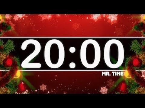 20 Minute Timer with Christmas Music! Countdown Timer for Kids!