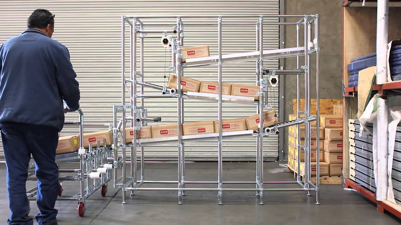 Ams Mrs Rack System Karakuri Zig Zag Storage Rack Youtube