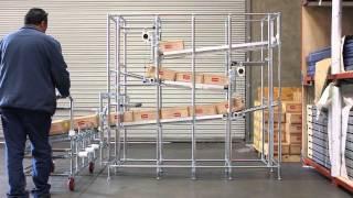 AMS MRS Rack System: Karakuri Zig-Zag Storage Rack