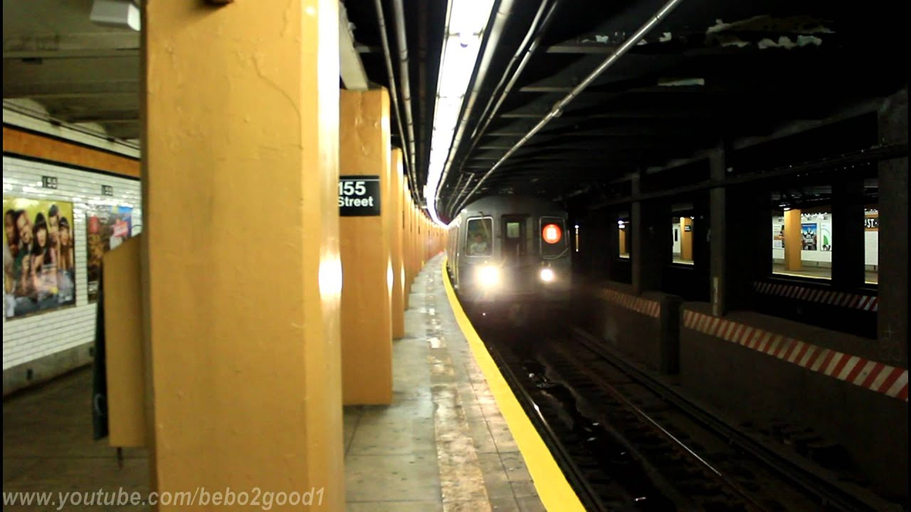IND Subway: R68 (B) LCL & (D) LCL / EXP at 155th Street - YouTube
