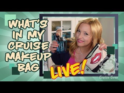 What's In My Cruise Makeup Bag - Live