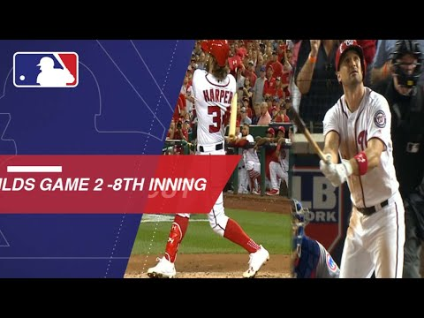 Watch the Nationals take the lead with homers in the 8th inning of NLDS Game 2