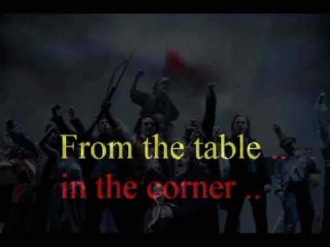 Empty chairs at empty tables (Karaoke-version with lyrics) from 'Les Miserables'