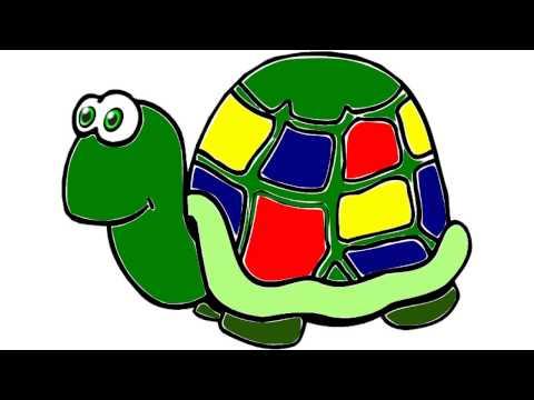 Черепаха. Картинки для детей, трафареты, шаблоны для рисования, раскраски  Альбом от DETKIru.net