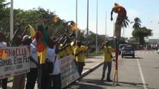 Soccer Fans at Libreville Airport