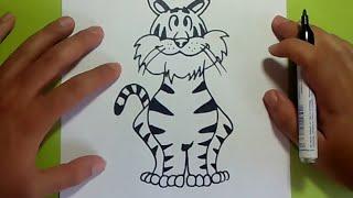 Como dibujar un tigre paso a paso 3 | How to draw a tiger 3