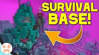 WARPED TREE SURVIVAL BASE! | Minecraft 1.16 Nether Update