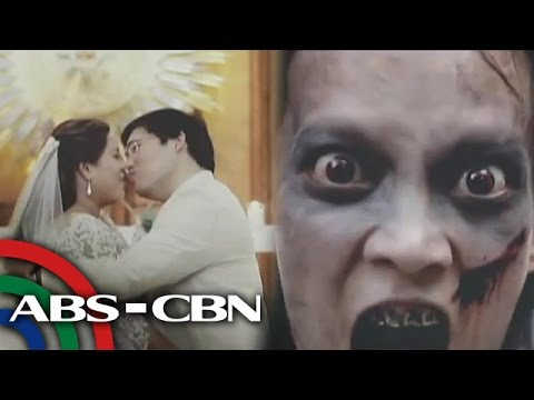 Rated K: Couple in zombie-themed wedding video