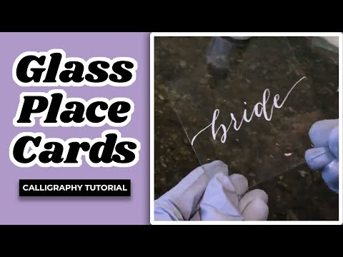 Glass Place Cards – A Walk Through with The Pigeon Letters