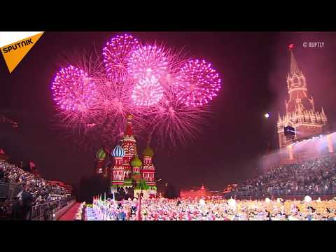 Spectacular Opening of Military Music Festival on Red Square in Moscow