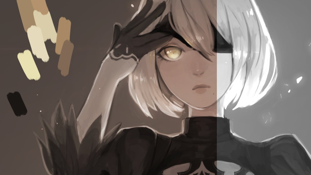 Nier Automata 2b Time Lapse Art You