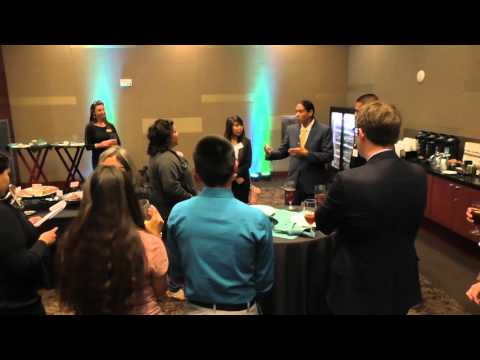 NAU CAIED Tribal Economic Outlook Conference 2016: Post-event, students with Chauduri