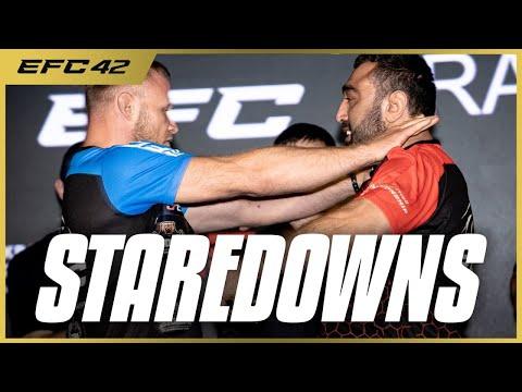 Шлеменко vs Гусейнов: БИТВА ВЗГЛЯДОВ турнира EFC 42