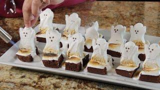 Halloween Ghost Brownies