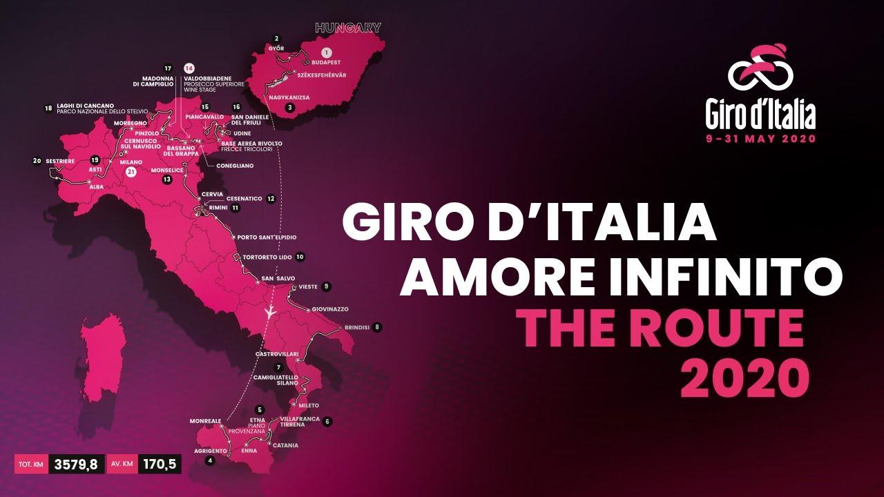 Giro de Italia: Recorrido oficial del Giro de Italia 2020 [Etapas]