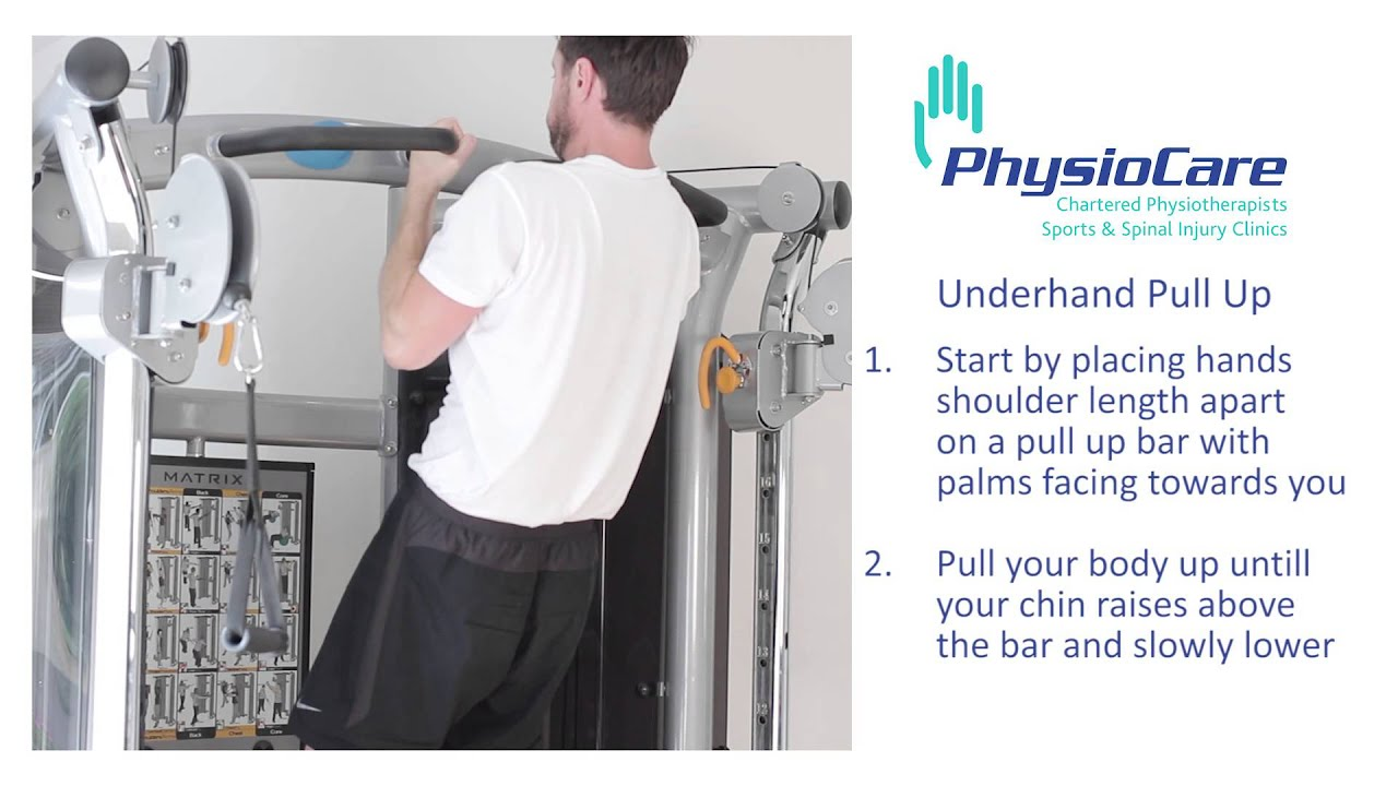 PhysioCare - Underhand Pull Up - YouTube